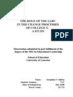 MSc Leicester Dissertation Josephine v Saliba