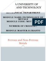 Technology of Metals