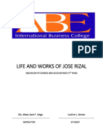 Life and Works of Jose Rizal Ilp