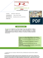Tema y Esquema de Redacion de Residuos Solidos