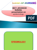Epidemiology Approches Ppt