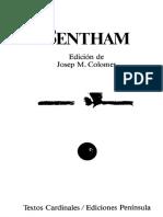 Bentham - Antologia. Ed. Peninsula 1991