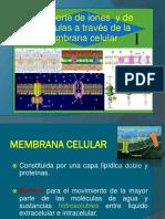 4.- Transporte de Iones y de Moleculas a Traves de La Membrana Celular