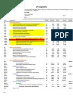 Presupuesto Palmeras