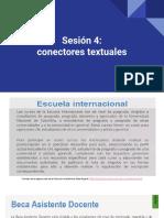 Sesión 4_ Conectores Textuales