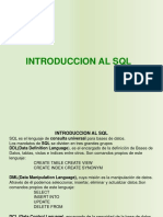 INTRODUCCION A SQL