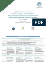 Colloquetraduction Programme