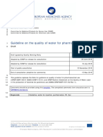 Draft Guideline Quality Water Pharmaceutical Use En