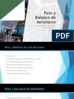 Peso y Balance de Aeronaves TMA