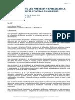 2018 Ecu Reglamento General de La Ley Organica Integral Para Prevenir y Erradicar La Violencia Contra Las Mujeres
