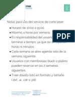 Políticas de Los Servicios Del Fab Lab IYEM