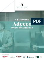 VI Informe Adeco sobre Absentismo