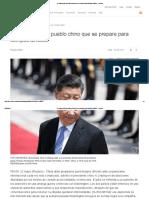 Xi Jinping Pide Al Pueblo Chino Que Se Prepare Para Tiempos Difíciles - Reuters