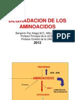 DEGRADACION DE AMINOACIDOS