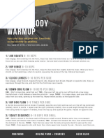 Lower Body Warmup