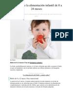 Las Fases de La Alimentación Infantil de 0 a 24 Meses