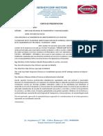 Carta de Presentacion - Invitacion