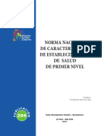 Norma Nacional de caracterizacion de Establecimientos de 1er Nivel.pdf