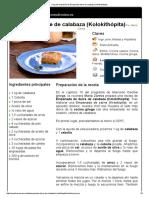 Empanada Dulce de Calabaza (Kolokithópita)