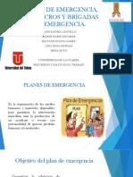 Planes de Emergencia, Simulacros y Brigadas de Diapositivas