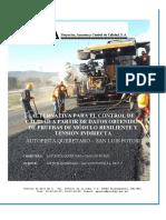 Alternativa de Control de Calidad Autopista Querétaro - San Luis Potosí
