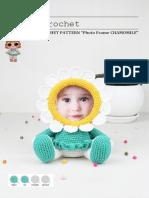 Chamomille crochet photo phrame