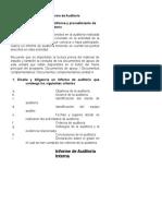 Informe de Auditoría Interna