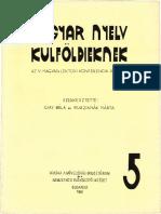 MagyarLektoriKonferencia 05 1981 MagyarNyelvKulfoldieknek