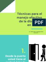 Técnicas Para El Manejo Efectivo de La Disciplina en El Aula.