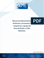 Manual de Mantto Area de Diseño y Taller Mecanico (Actualizado)