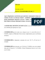 Resolução Sme Nº 108 - Regulamento Enturmação 2019 (Republicação) - Do 19-12-2018