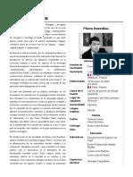 Reseña biográfica de Pierre Bourdieu
