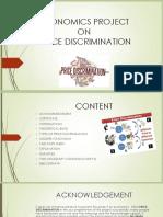 Economics Project on Price Discrimination