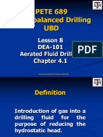 Lesson 8 Aerated Fluid Drilling