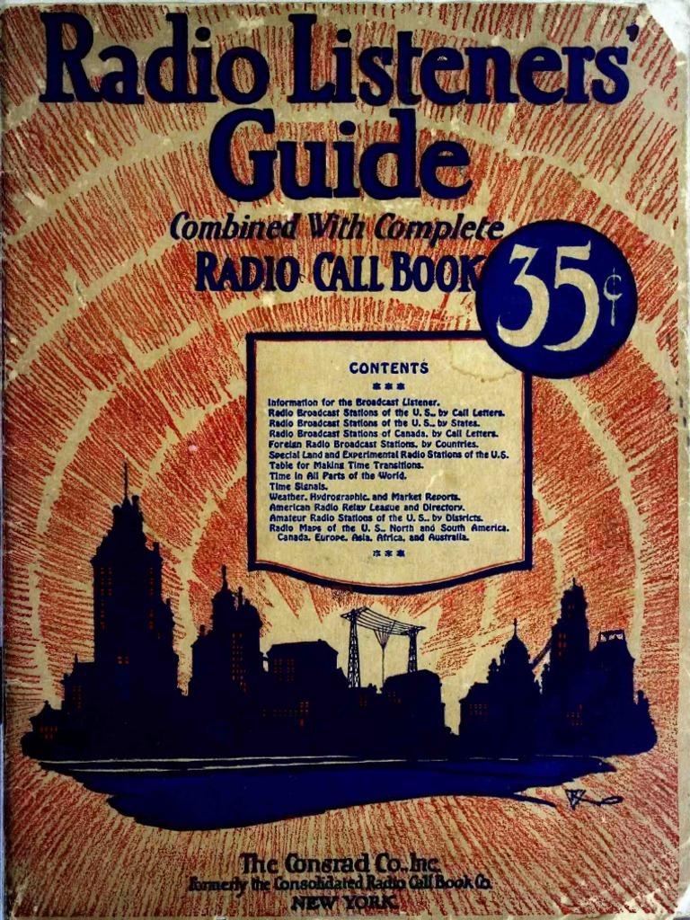 Radio Listeners Guide 1925 Vol I Vacuum Tube Radio