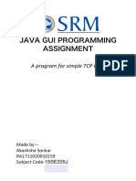 Java Gui Programming Assignment