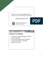 Case Study - Designing a Quality Management System Using ISO 9000 Framwork