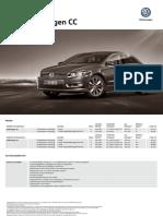 Volkswagen Cc Preisliste
