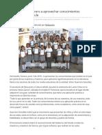 04-06-2019 - Llama Víctor Guerrero a aprovechar conocimientos adquiridos en el aula - Canalsonora.com