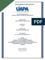 Sistemas de Contabilidad - Tarea Unidad II
