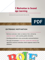 Role of Motivation in Second Language Learning (Role-play)