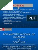 Reglamento Nacional Licencias Ds040 2012