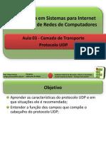 Aula 03 - Camada de Transporte UDP