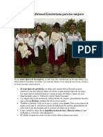 Vestimenta Tradicional Ecuatoriana Para Las Mujeres