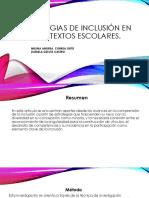 Estrategias de Inclusión en Contextos Escolares
