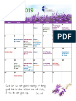 VCS May 2019 Calendar