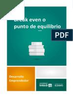 Break even o punto de equilibrio .pdf