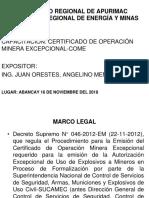 CERTIFICADO DE OERACIÓN MINERA.ppt
