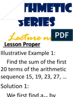 Lec7_sum of the Terms of an Arithmetic Sequence