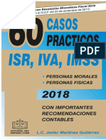 60 Casos Prácticos Isr Iva Imss 2018